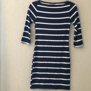 Soprano Striped, Fitted Cotton Dress, X-Small
